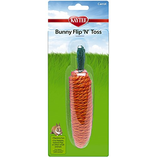 (Kaytee Super PET 452397 Bunny Flip N Toss Carrot Toy for)