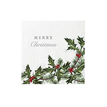Christmas Napkins.Christmas Napkins Christmas Party Christmas Paper Napkins Dinner Napkins 6 5 Holly Pk 40