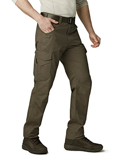 (CQR Men's Work Rip-Stop Tactical Utility Operator Pants EDC, Utility Cargo(twp302) - Tundra, 44W/30L)