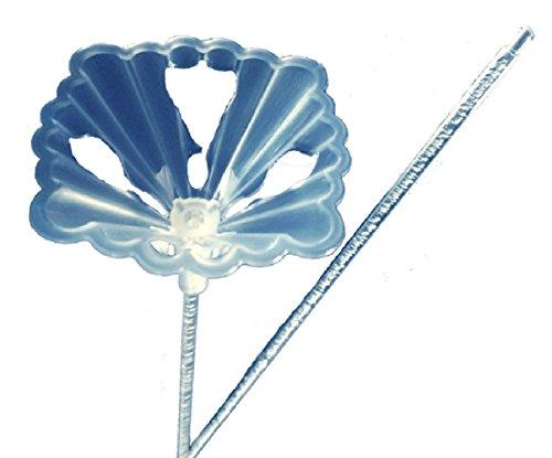 Stick Foil - Plastic Balloon Cup (Large) & 20