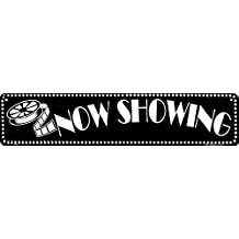 NOW SHOWING movie theatre sign home theater decor