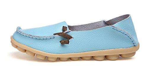 VenusCelia Frauen Comfort Walking Netter Flacher Loafer Himmelblau