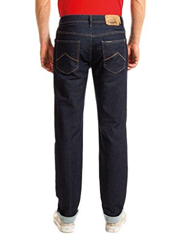 ajuste T707M0900A cintura Jeans Oscuro hombre normal Carrera estilo Jeans Lavado 100 recto regular para extensible PASSPORT tejido Azul twqtW7pv