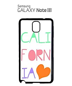 chen-shop design California Heart it Summer Mobile Cell Phone Case Samsung Note 3 White high quality