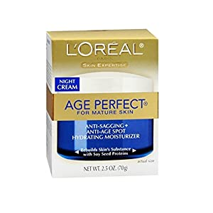 L'Oreal Dermo-Expertise Age Perfect for Mature Skin Night Cream 2.50 oz (Pack of 2)