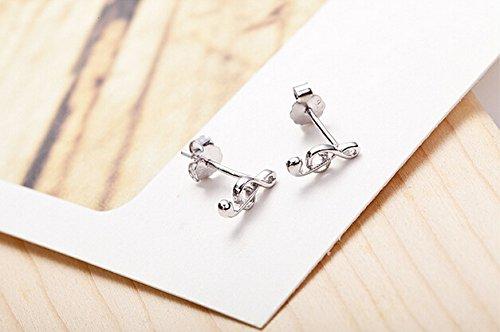 Fashmond- Boucles d'Oreilles Clous Clé de sol- Argent fin 925- Idée cadeau anniversaire