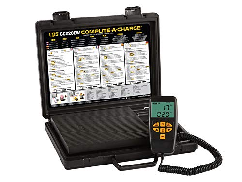 CPS CC220EW Compute-A-Charge 220lb/100kg Semi-Programmable Compact Refrigerant Scale, Bluetooth ()