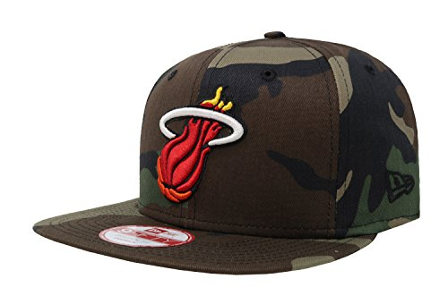 NEW ERA 9fifty NBA Miami Heat HAT State Clip Snapback Woodcamo One Size CAP