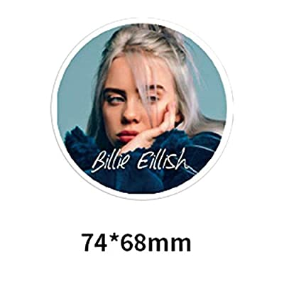 kikoo Billie Eilish Creative Stickers, 50/100pcs PVC Guitar Travel Case Sticker Door Bicycle Stickers (H04-50pcs): Office Products