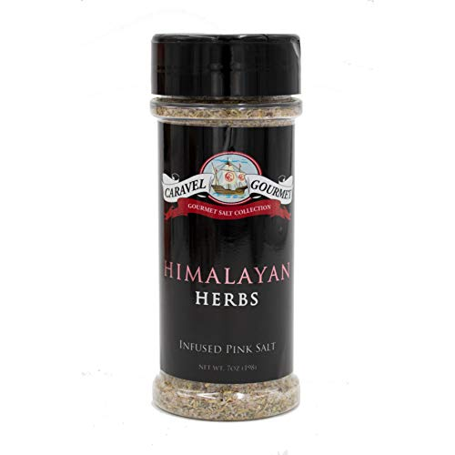 Himalayan Herbs Infused Pink Salt Shaker - A Pure, All-Natural Whole Food Salt Blended with Delicious Herbs - Kosher, Gluten-Free, Non-GMO, No MSG Seasoning - 5 total oz.