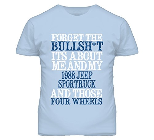 About 1988 T-shirt (Forget The BS Its All About 1988 SporTruck Distressed Look T Shirt XL Light Blue)