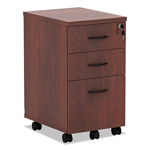 Alera ALEVA572816MC Valencia Mobile B/B/F Pedestal File, 15 7/8 x 20 1/2 x 28 3/8, Med - Pedestal Wood Mobile