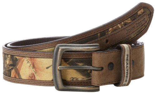 John Deere Men's 38Mm Belt, Brown Camouflage, 38