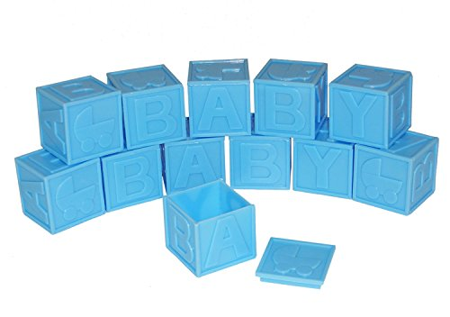 ACI PARTY AND SPIRIT ACCESSORIES 12 Piece Baby Plastic Blocks Package, Blue]()