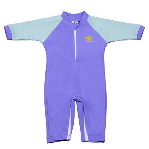 Nozone Fiji Sun Protective Baby Swimsuit In Delta/Chill Blue, 12-18 - Delta Sun
