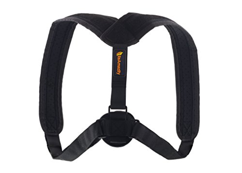 Posture Corrector for Women and Men - Supports Upper Back Clavicle Shoulder Collarbone, Prevents Slouching, Promotes Straightening of Spine, Relieves Neck & Thoracic Pain, Helps Heal Upper-Body Injury