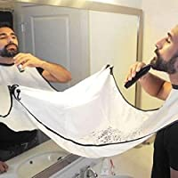 Linge de protection lors du rasage de barbe ou de moustache avec ventouses qui se fixent au miroir