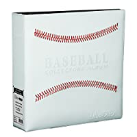 "Ultra Pro White Stitched Baseball Card Collectors 3-Ringed Album With 3"" D-Rings"