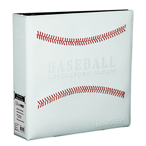 White Stitched Baseball Card Collectors Album