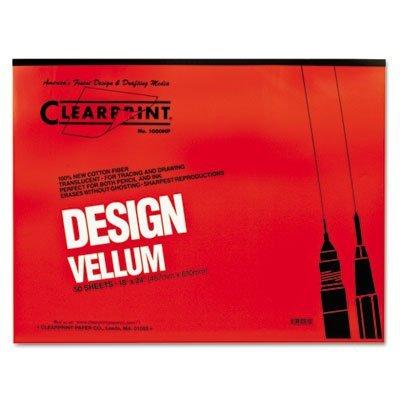 CLEARPRINT VELLUM 1000HP 18X24 50/PAD by Clearprint