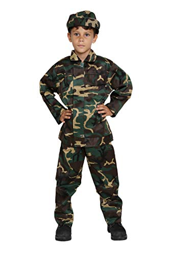 Jason Party Boys Soldier Costumes Army Costumes Boys Camo Costumes for Kids Army Military Costumes (longwoodland-7-9, Long -