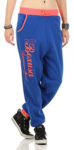 Boxusa - Pantalón deportivo - para mujer azul naranja