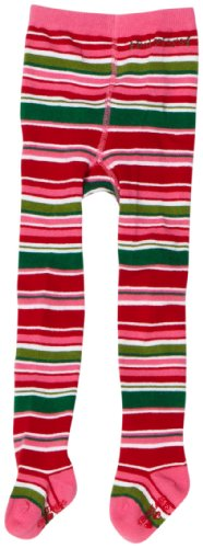 Babylegs Baby Girls' Peppermint Stripe Footed Tights