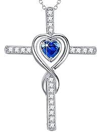 Love Heart Infinity September Birthstone Fine Jewelry...