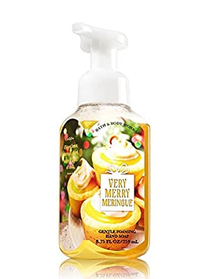 VERY MERRY MERINGUE, WINTER & WINTER CANDY APPLE Bath & Body Works Set of Gentle Foaming Hand Soap - Pack of 3 with a Jarosa Bee Organic Chocolate Bliss Lip Balm by Jarosa Gifts