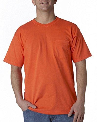 Bayside Clothing Union Made 3015 Pocket Tee Bright Orange X-Large (3015 Bayside Union)