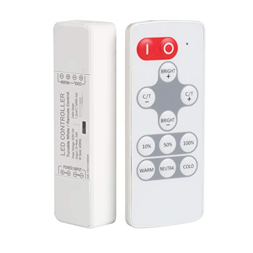 LED Strip Light Controller,SPIGHTDEX RF Mini Dimmer LED Remote Smart Wireless Color Temperature Remote with Control ()