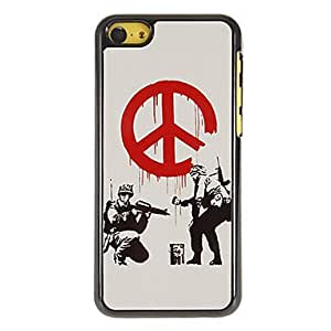 ZCL Two Brave Soldiers Pattern PC Hard Case with 3 Packed HD Screen Protectors for iPhone 5C