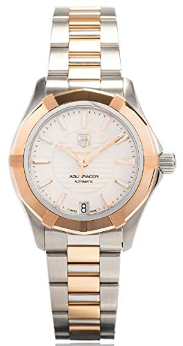 - Tag Heuer Aquaracer White Dial Stainless Steel and 18kt Rose Gold Ladies Watch WAP2350BD0838