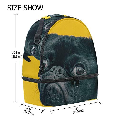 perro para aislamiento el la correa almuerzo ajustable Alinlo para hombro con de para con de Bolsa pincnic escuela qxwS4CRI