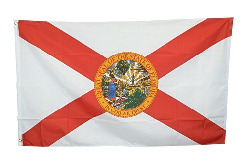 Shop72 US Florida State Flags - Florida Flag - 3x5' Flag From Sturdy 100D Polyester - Canvas Header Brass Grommets Double Stitched From Wind Side