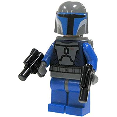 LEGO Star Wars - Minifigure Mandalorian with Double Blaster - x1 Loose: Toys & Games