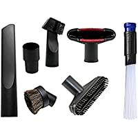 Wonlives Universal Replacement 32mm (1 1/4 inch) and 35mm (1 3/8 inch) Vacuum Accessories Brush Kit for Standard Hose Set of 7
