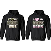 I Love My Redneck Wife & Husband - Matching Couple Hoodies - His and Her Love Sweaters