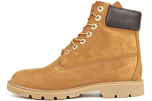 Timberland Mens 6-Inch Basic Waterproof Leather Boots Wheat Nubuck