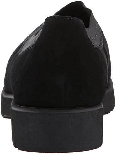 Clarks Bellevue Zeder - Scarpe da Donna, Colore: Nero, Nero (Effetto Pelle Scamosciata Nera), 38.5 EU