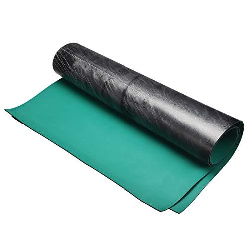 - uxcell Anti Static ESD Mat High Temperature Rubber Table Mat 500 x 410mm Green Black 2pcs