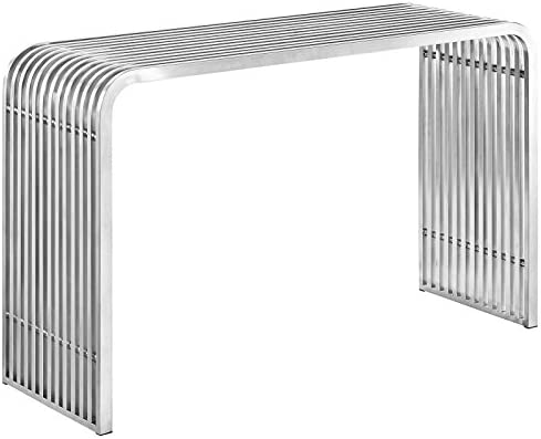Modway Pipe Stainless Steel Console Table