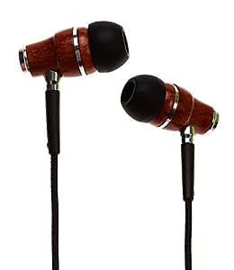 Symphonized NRG Premium Genuine Wood In-ear Noise-isolating Headphones Earbuds Earphones with Microphone (Black)