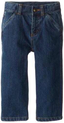 Carhartt Little Boys' Toddler Denim Dungaree Jeans, Worn In Blue, 4T (Carhartt Boys Washed Denim)
