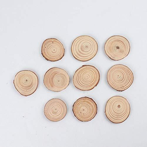 FDGHSXFGHDXFGHFG pintado a mano 10pcs madera redonda de la rebanada fabricaci/ón hecha a mano de madera Decoraci/ón del arte