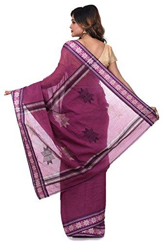 Bengal Handloom Saree Women's Pure Cotton Tangail Free Size Maroon by Bengal Handloom Saree (Image #2)