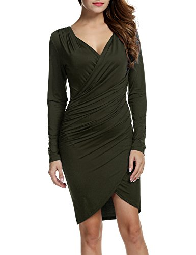 ANGVNS Sleeve Ruched Bodycon Banquet