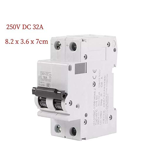 250V DC Circuit Breaker,Low-voltage Miniature Air Circuit Breaker,with Solar Energy Switch,for Solar Panels Grid System, Wind and Solar Hybrid System etc(32A) - Pcb Circuit Breaker