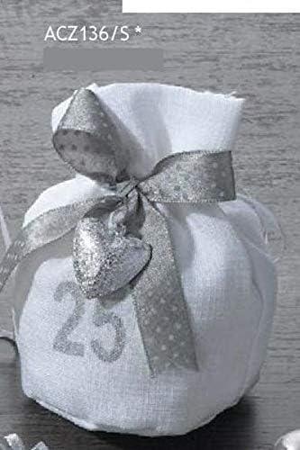 Favorito 12 PZ Sacchetto Portaconfetti 25 ANNI matrimonio nozze d argento IM93