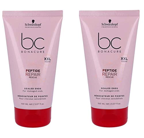 (Schwarzkopf Bonacure Repair Rescue Sealed Ends 5.1 oz (Mega Size - Limited Edition) - Duo Set - (2PACK))